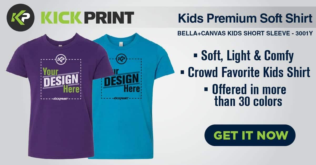 Kids Premium Soft Shirt - Kick Print