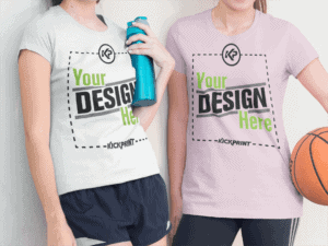two-friends-wearing-a-round-neck-tee-template-with-cropped-faces-while-at-the-basketball-court-a15637-300x225
